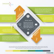 Green Business Concept Design With Arrows Infographic Template