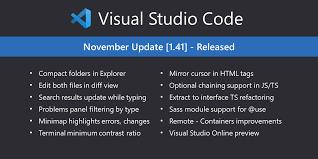 Visual Studio Code November 2019