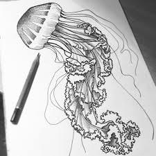 хочу на море рисую медуз рисую медуза море эскиз тату арт