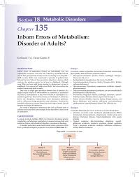 Inborn Errors Of Metabolism Disorder Of Adults