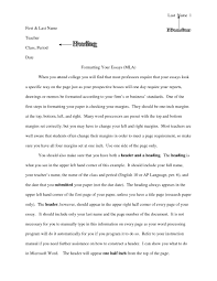 How To Format A College Paper Mla Format College Essay Example Essay Writing Top