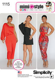 Simplicity Patterns Custom 48 Simplicity Pattern Misses Long Or Short Jumpsuit From Mimi G