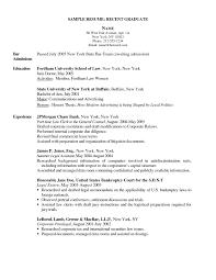 Sample Resume For Graduate Nursing School Application New Resumes