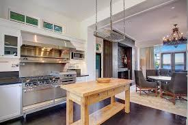 example of small kitchen island being a butcher block