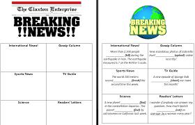 Newspaper Article Template Worksheets 39 Free Newspaper English Worksheets