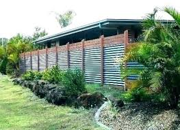 corrugated steel fence corrugated metal fence ideas wood framed corrugated steel fencing corrugated metal fence cost