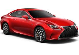 lexus red sport car