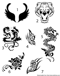Easy Temporary Tattoo Draw Your Design On A Piece Of Paper With A