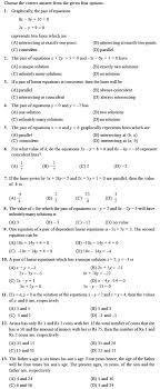 class 10 important questions for maths pair of linear equations in two variables