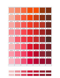 Pantone Matching System Color Chart Pms 1345