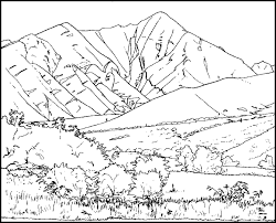 Small Picture Mountain Coloring Pages For Kids Mountain Mountain Coloring