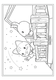 Calico Critters Coloring Pages Kids N Fun Coloring Pages Of Calico