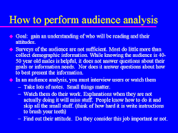audience analysis example audience analysis essay example examples of character analysis
