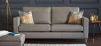 softgrain grey leather sofa