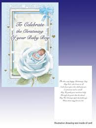 Baptism Cards Card Christening To Celebrate Your Baby Boy
