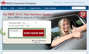 accc auto insurance quote step 1