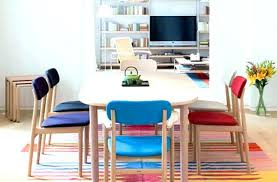 colorful dining room chairs wire for cozy tables table centerpiece