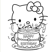 Small Picture Hello Kitty Preparing To Blow Out Birthday Cake Candles Hello