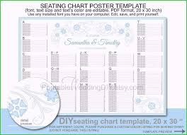 seating chart template pdf limited edition gallery wedding seating chart poster template printable diy reception