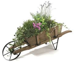decorative garden wagon planter country woodcraft outdoor lawn and