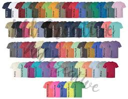 Comfort Colors T Shirts Color Chart Digital File Shirt Color Chart Comfort Colors 1717 Color Chart Etsy Color Chart Tshirt Color Chart Comfort Color