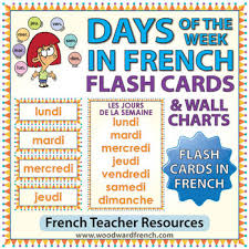 French Days Of The Week French Days Of The Week Flash Cards Charts