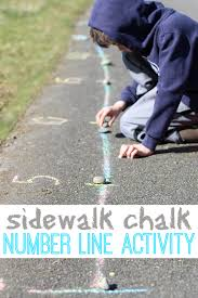 You will encounter some resistance because of the angle, possibly break a few pieces of. Outdoor Number Line Activity No Time For Flash Cards