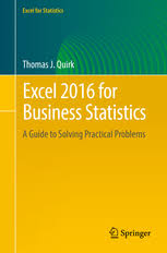 excel for business statistics a guide to solving thomas j   preview