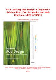 Learning Web Design Free Learning Web Design A Beginners Guide To Html Css
