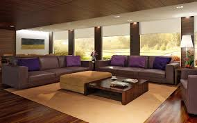 Purple Minimalist Leather Sofa Sets For Modern Living Room Idea