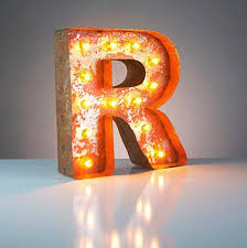 lighting letters. 12 lighting letters