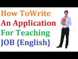 Application For Teaching Job How To Write Application For Teacher Job Youtube