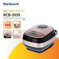 Nồi cơm điện tử lòng nồi niêu cao cấp Bluestone RCB-5939 1.5L - Bảo hành 24  tháng - Hàng chính hãng