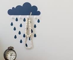 big cloud raindrop hook wall sticker