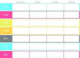 Printable Meal Planner Template Best Camping Ideas On Food List For ...