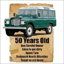 50 year old 50th birthday gift land rover funny stupid tees t shirt in clothes shoes accessories men s clothing t shirts ebay