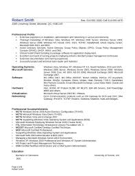 Professional System Administrator Resume