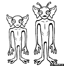 Small Picture Cryptids Online Coloring Pages Page 1