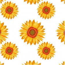Sunflower Pattern Fascinating Sunflower Pattern Background Vector Free Download