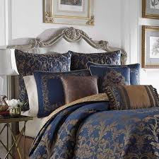 blue and silver damask bedding design ideas
