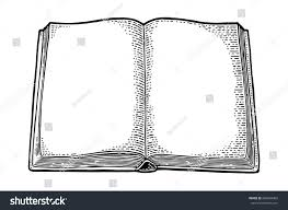 open book isolated on white background vector black vine engraving ilration hand draw in