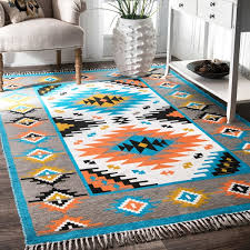 excellent nuloom multicolored handmade tribal southwestern area rug 76 x 96 for tribal area rug ordinary
