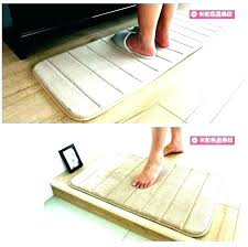l shaped rug runner kitchen mat awesome foam mats memory pasta large size endearing corner d