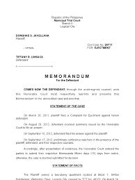 trial memorandum sample plaintiff