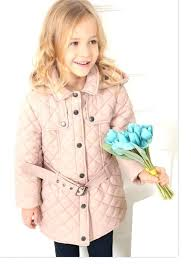 junior trench coat girls winter shaped quilted single ted school jacket girl armani