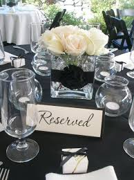 reception with black lace linens | ... favors are ideal to end an elegant.  Black And White CenterpiecesSimple ...