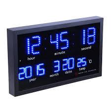 dot matrix led digital large wall clock