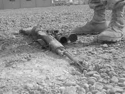 Image result for soldier surrendering rifle pictures