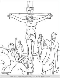 Small Picture Stations of the Cross Coloring Pages 12 Jesus dies on the cross