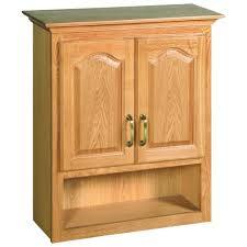 design house richland 26 3 4 in w x 30 in h x 10 3 8 in d unassembled bathroom storage wall cabinet with shelf in nutmeg oak